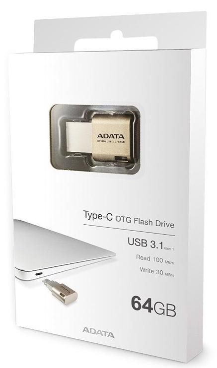 Adata 64GB UC350 USB Type-C Gold