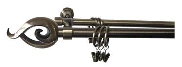 Aizkaru stangu komplekts Futura F511100, D-19, 180cm, 2-rindu, zelta