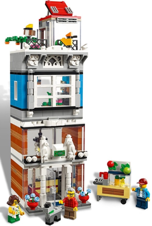 Konstruktors LEGO® Creator 31097 Pilsētas nams ar zooveikalu un kafejnīcu