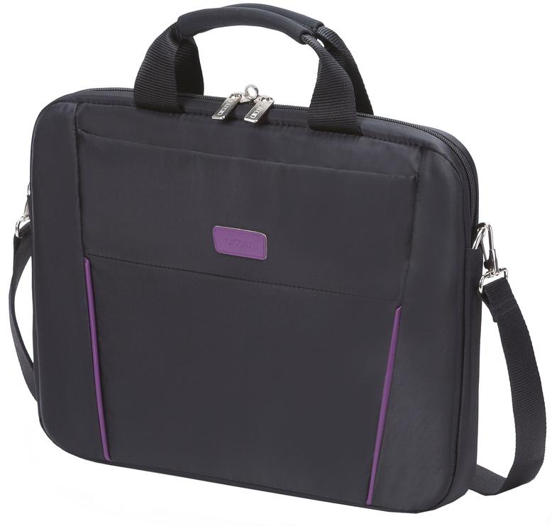 Dicota Slim Case Base 14 - 15.6 Black Purple Notebook Case