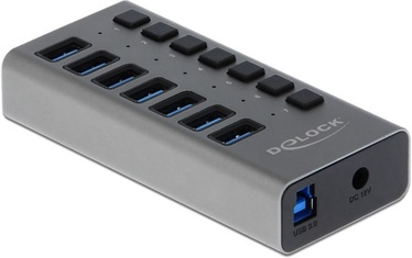 Delock External USB 3.0 Hub 7-Port w/Switch