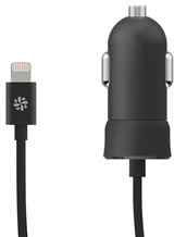 Kanex Car Charger Lightning Cable 1.2m Black