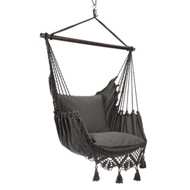 Home4you Tassels Swing Chair Grey