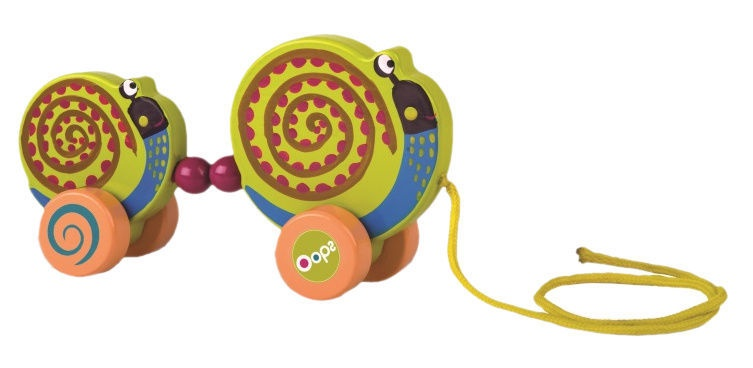Oops Wooden Pulling Toy Snail