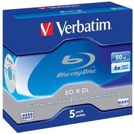 Verbatim BD-R DL JC 50GB 6x 5pcs