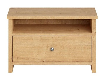 Black Red White Porto Night Stand 40x68cm Burlington Oak