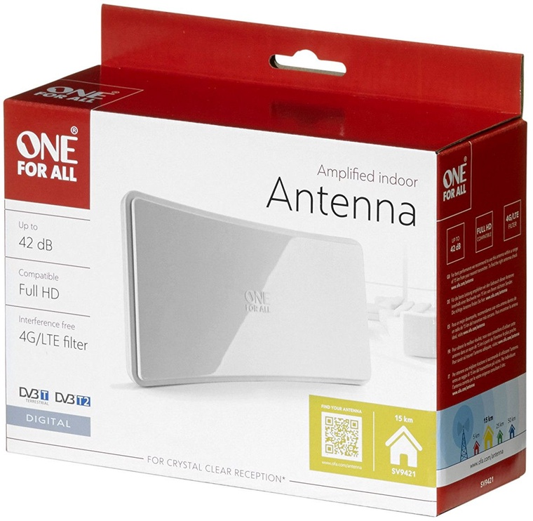 One For All Amplified Indoor Antenna SV9421
