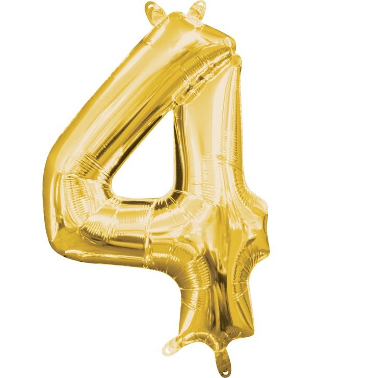 Balionas Amscan NR 4, aukso, 1 vnt.