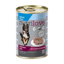 Konservuotas ėdalas šunims Nutrilove Delicious Pate, su lašiša, 400 gr