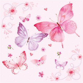 Paw Decor Collection Gentle Butterflies 33 x 33cm Rose