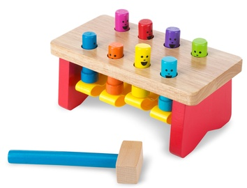 Melissa & Doug Deluxe Pounding Bench Toddler Toy 14490