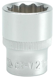 Yato YT-1283 1/2'' Bi-hexagonal Socket 21mm