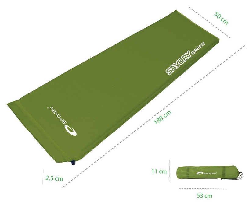 Madrats täispuhut Spokey Savory Self Inflating Mat Green 832847