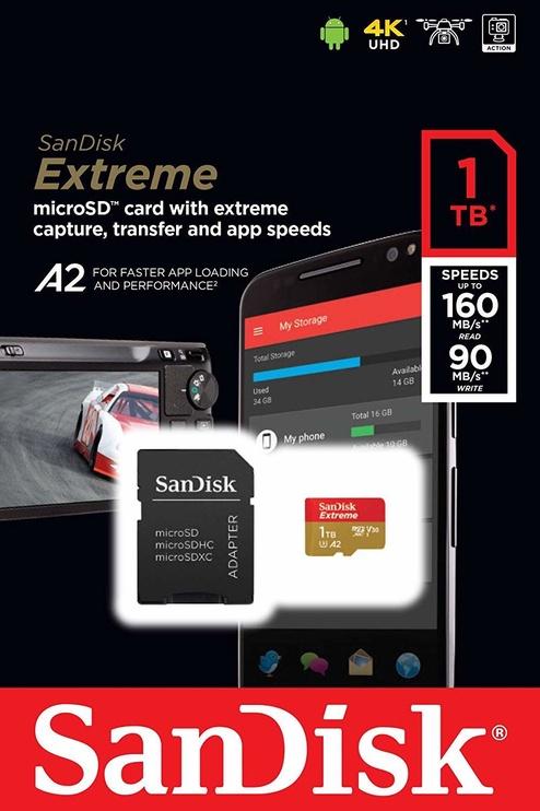 SanDisk Extreme 1TB microSDXC UHS-I U3 + SD Adapter