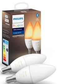 Светодиодная лампочка Philips Hue, led, E14, 6 Вт, 470 лм, белый, 2 шт.