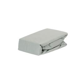 Простыня Domoletti, серый, 180x200 см, на резинке