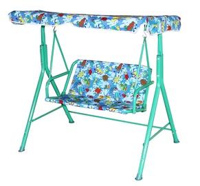 Садовые качели Besk Canopy, зеленый/голубой, 105 см x 70 см x 110 см