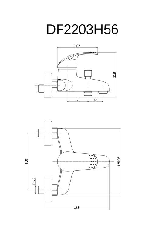 Ūdens maisītājs vannai Thema Lux Eco DF2203 MIS