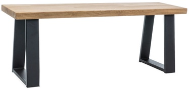 Batų spintelė Signal Meble Ronaldo Oak/Black, 1200x350x450 mm