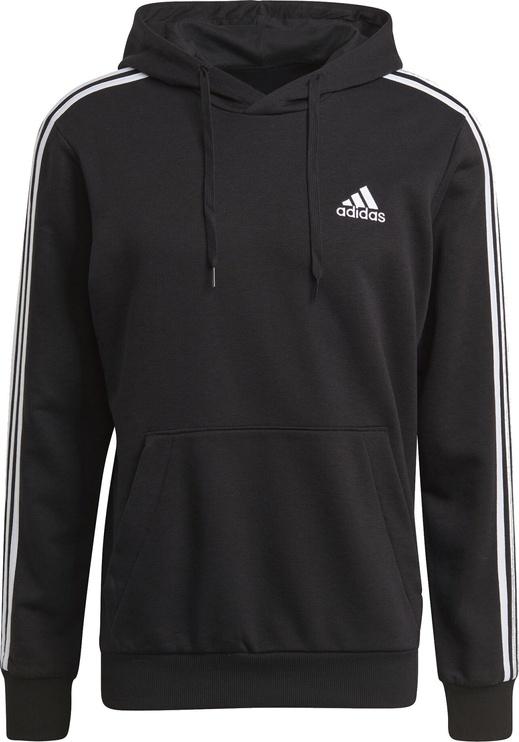 Adidas Essentials 3 Stripes Hoodie GK9062 Black S