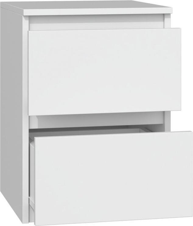 Naktinis staliukas Top E Shop M2 Malwa, baltas, 40x30x40 cm