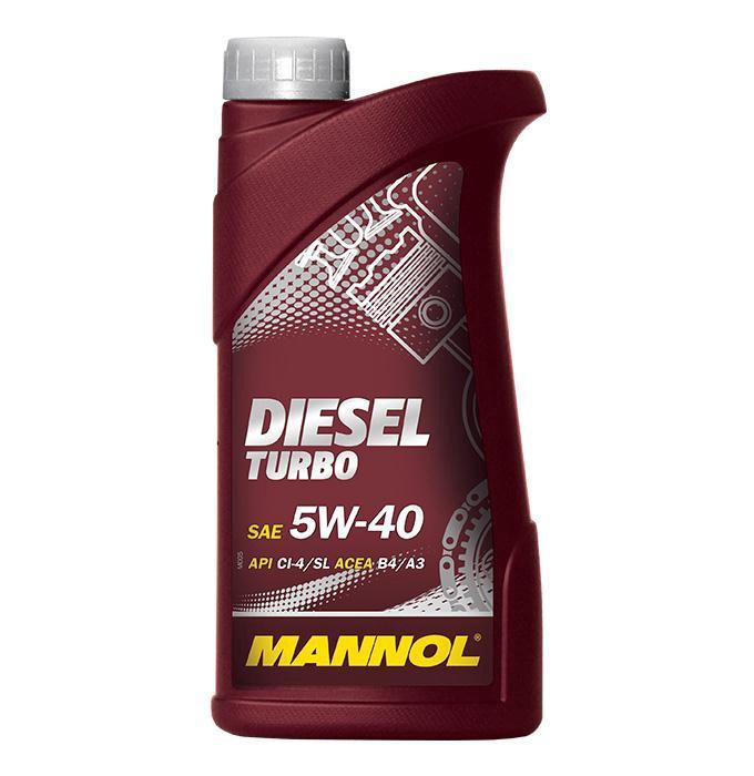 Automobilio variklio tepalas Mannol Diesel Turbo, 5W-40, 1 l