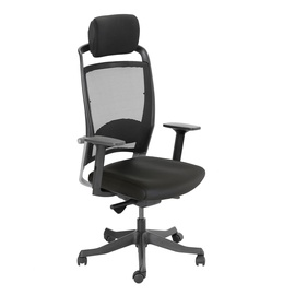 Home4you Fulkrum Leather Office Chair Black