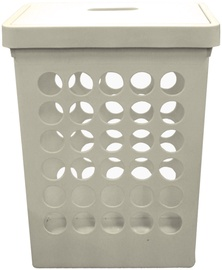 Plast Team Springfield Laundry Basket Rectangular White 45L