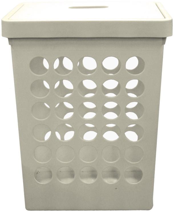 Plast Team Springfield Laundry Basket Rectangular White 45L