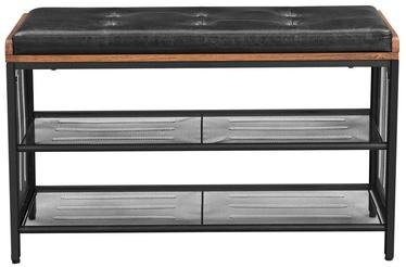 Шкаф для обуви Songmics, коричневый/черный, 800x300x480 мм