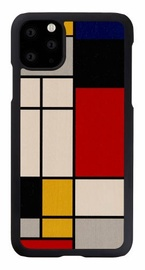 Man&Wood Mondrian Wood Back Case For Apple iPhone 11 Pro Max Black
