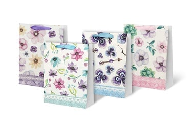 Dovanų maišelis su gėlėmis, 31x12x40 cm