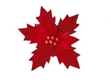 Dezhou Christmas Artificial Flowers 26cm Red