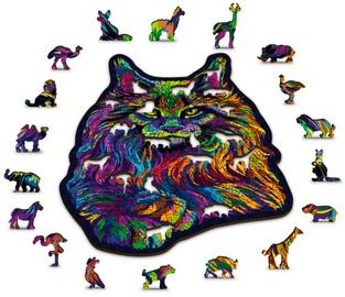 3D пазл Wooden City Rainbow wild cat HE0039-M, 140 шт.