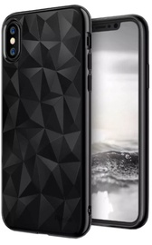 Blun 3D Prism Shape Back Case For Xiaomi Redmi Note 5 Black