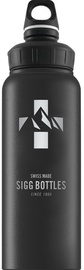 Sigg Water Bottle Mountain Wide Mouth Black 1L