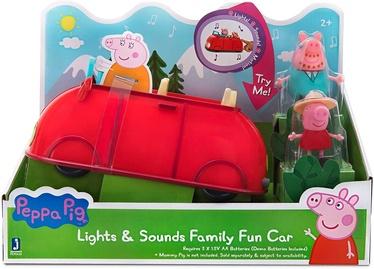 Jazwares Peppa Pig Lights & Sounds Family Fun Car