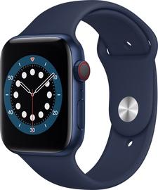 Išmanusis laikrodis Apple Watch Series 6 GPS LTE + Cellular, 44mm Aluminum Deep Navy Sport Band, mėlyna