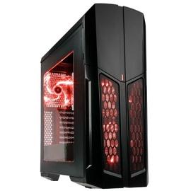 Kolink Vault Midi Tower Window Insulated Black/Red