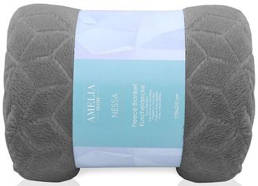 AmeliaHome Nessa Fleece Blanket Steel 150x200cm