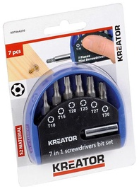 Kreator TORX Screwdriver Bit Set 7pcs