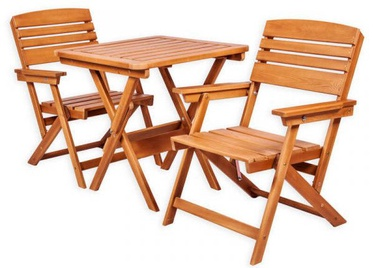Folkland Timber Folding Garden Set Heini 2 Brown