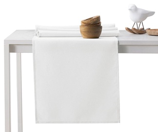 DecoKing Pure HMD Tablecloth White 30x100cm