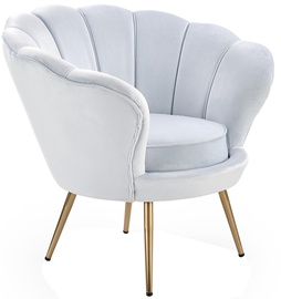 Halmar Amorino l Armchair Light Blue/Gold