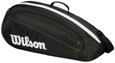 Wilson Fed Team Bag For 3 Rackets Black/White