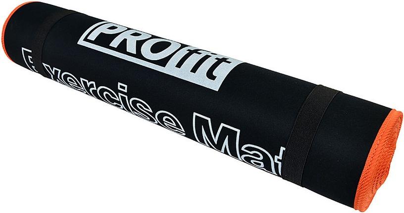 PROfit Exercise Mat 180x60x0.6cm Black/Orange