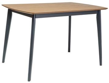 Pusdienu galds Signal Meble Vitro Oak/Graphite, 1200x750x750 mm