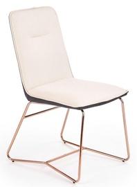 Ēdamistabas krēsls Halmar K390 Cream/Dark Grey/Gold, 1 gab.