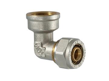 """Užveržiamoji alkūnė, TDM Brass, 26 mm x 1"""" x 3 mm, su vidiniu sriegiu"""
