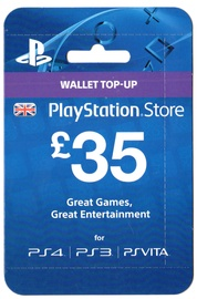 Sony PSN Card 35 GBP UK PSN IDs Only